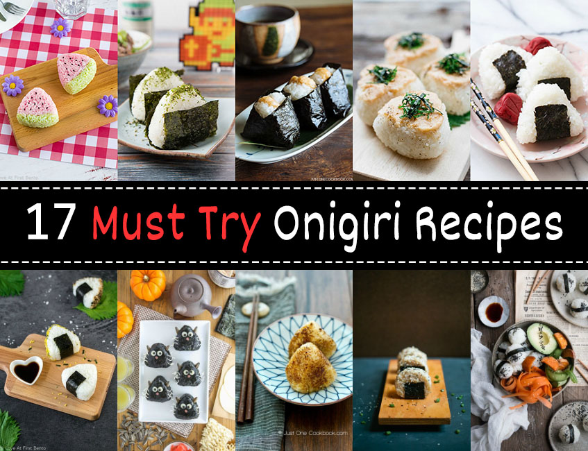 17 Must Try Onigiri Recipes - Featuring traditional onigiri, ultra cute onigiri, and vegan/vegetarian options, this is the ULTIMATE list of onigiri recipes on the internet! With 17 easy, delicious, and unique rice ball recipes to choose from, you'll never run out of ideas for using up leftover rice again! | loveatfirstbento.com {bento box, bento}
