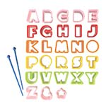 alphabet food cutters