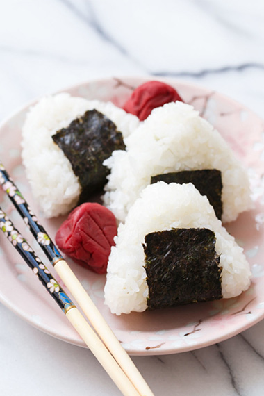 Umeboshi (pickled plum) onigiri