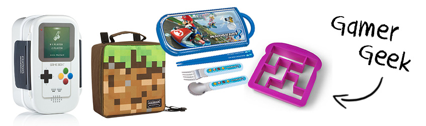 Gameboy gamer geek bento box Christmas gift set