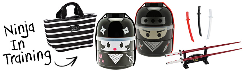 Ninja boy & girl bento box Christmas gift set
