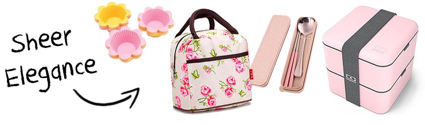 Pink & Elegant Monbento bento box Christmas gift set