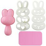 Bunny rabbit onigiri mold kit